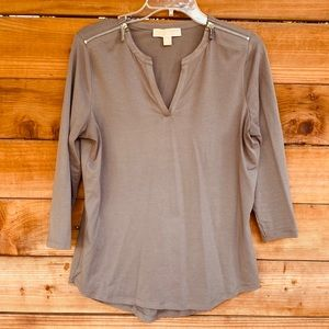 Michael Kors Grey blouse with zipper shoulders